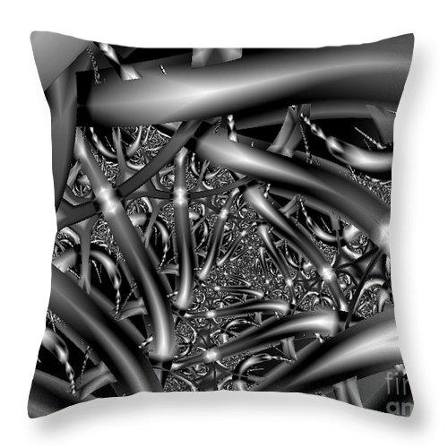 2-dimensional Throw Pillow featuring the digital art Choices Roads N Attitudes by Dana Haynes
