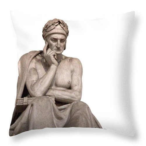 Dante Statue Throw Pillow For Sale By Ulisse