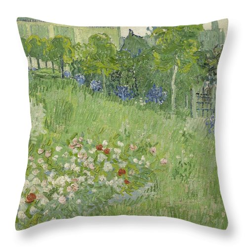 1890 Throw Pillow featuring the painting Daubigny's Garden by Vincent van Gogh