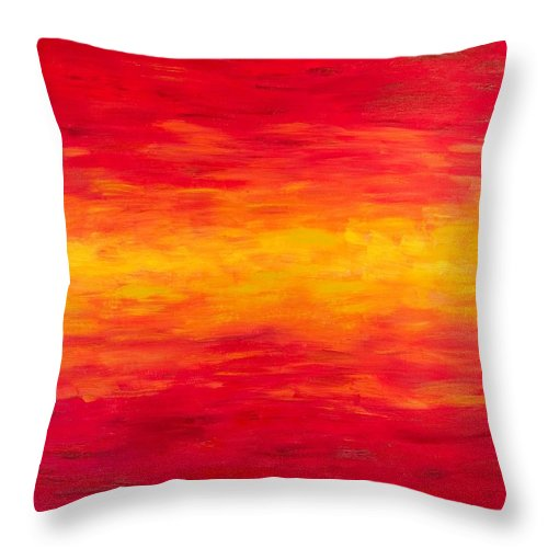 Original Throw Pillow featuring the painting Daybreak by Alexandra Vaczi