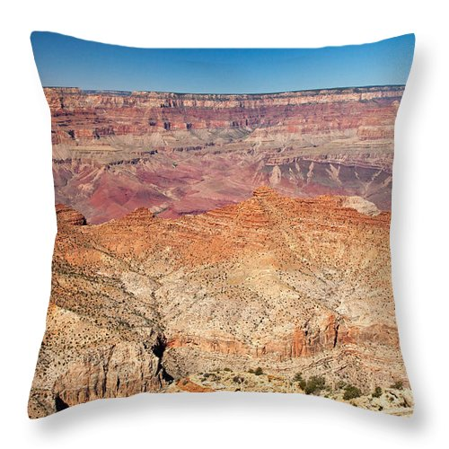 Arizona Throw Pillow featuring the photograph Desert View Grand Canyon National Park by Fred Stearns