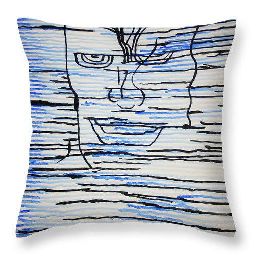 Jesus Throw Pillow featuring the painting Dinka - South Sudan by Gloria Ssali