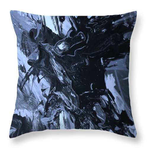 Original Throw Pillow featuring the painting Drama by Artist Ai
