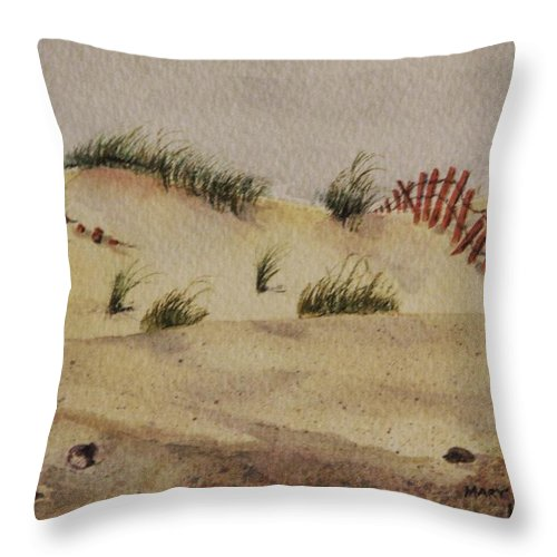 Sand Throw Pillow featuring the painting Dunes by Mary Ellen Mueller Legault
