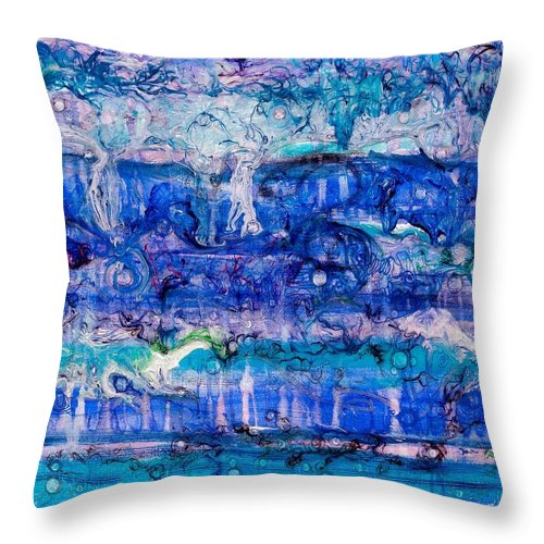 Ebb Throw Pillow featuring the painting Ebb And Flow by Regina Valluzzi