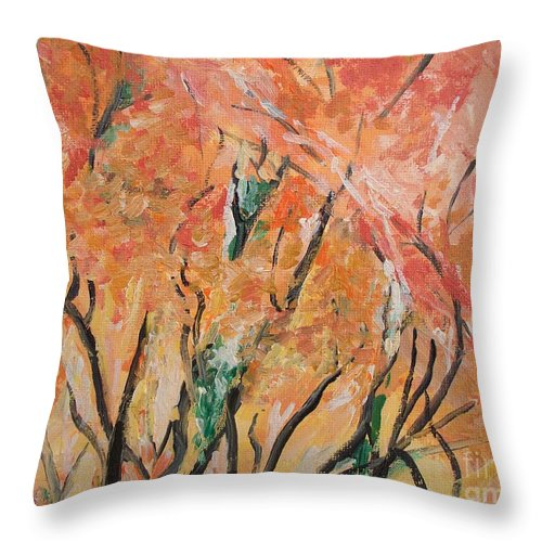 Fall Throw Pillow featuring the photograph Fall Colors At Cape May by Eric Schiabor