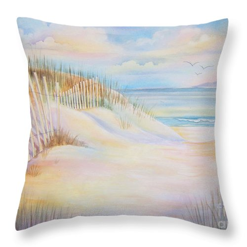 Florida Throw Pillow featuring the painting Florida Skies by Deborah Ronglien