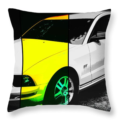 Mustang Throw Pillow featuring the photograph Ford Mustang Gt by Aurelio Zucco