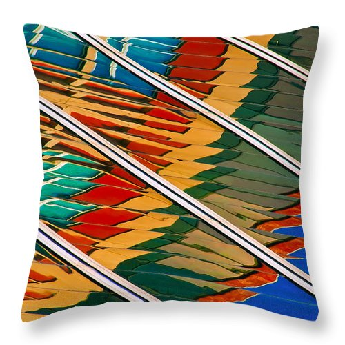 Architectural Abstract Throw Pillow featuring the photograph Free Flowing by KM Corcoran