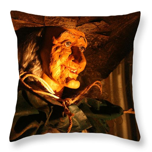 Fright Night Throw Pillow featuring the photograph Fright Night 2 by Ellen Henneke