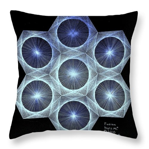 Jason Throw Pillow featuring the drawing Fusion by Jason Padgett