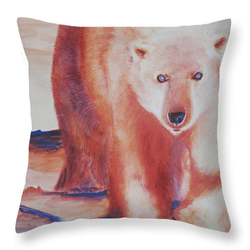 Polar Throw Pillow featuring the painting Global Warning by Tracy L Teeter