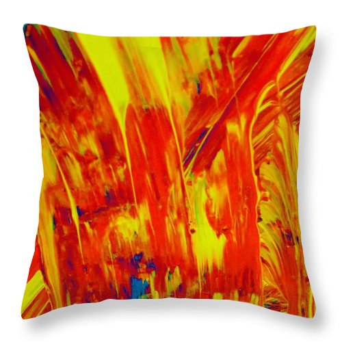Original Throw Pillow featuring the painting Glory by Artist Ai