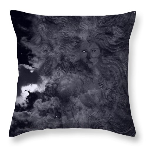 Goddess Vision Throw Pillow featuring the mixed media Goddess Vision by Ellen Henneke