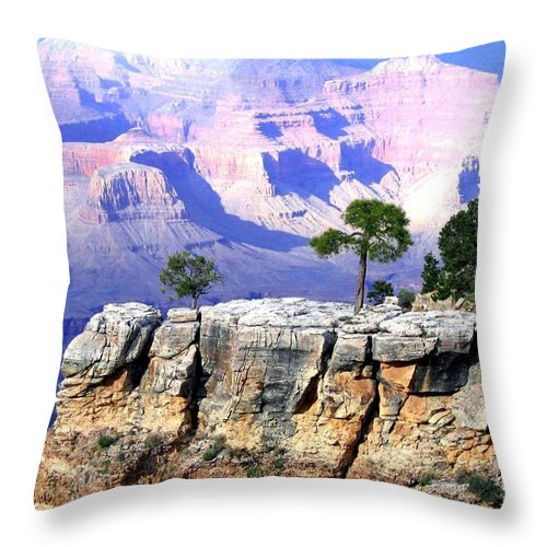 #grandcanyon1vista Throw Pillow featuring the photograph Grand Canyon 1 by Will Borden