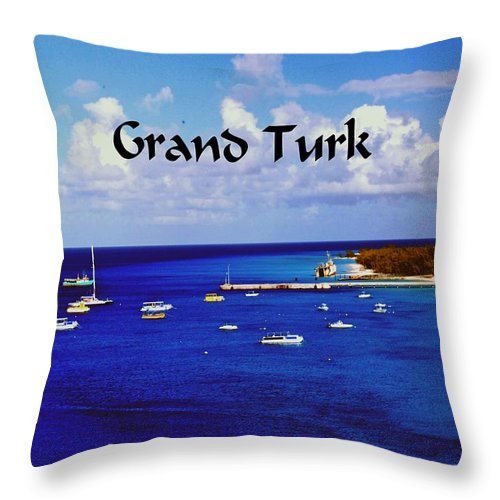 Caribbean Throw Pillow featuring the photograph Grand Turk by Gary Wonning