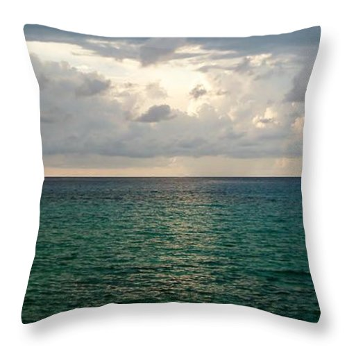 Color Throw Pillow featuring the photograph Horizon by Amar Sheow