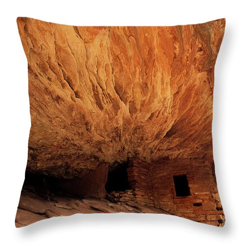 Utah Throw Pillow featuring the photograph House On Fire Ruin by Bob Christopher