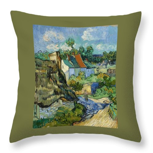 1890 Throw Pillow featuring the painting Houses At Auvers by Vincent van Gogh