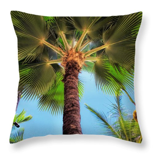 Hawaii Throw Pillow featuring the photograph Hyatt 35 by Dawn Eshelman