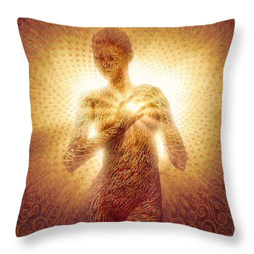 Surrealism Throw Pillow featuring the painting I Am Love by Robby Donaghey