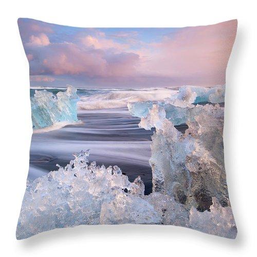 Scenics Throw Pillow featuring the photograph Iceland, Skaftafell, Jokulsarlon by Travelpix Ltd