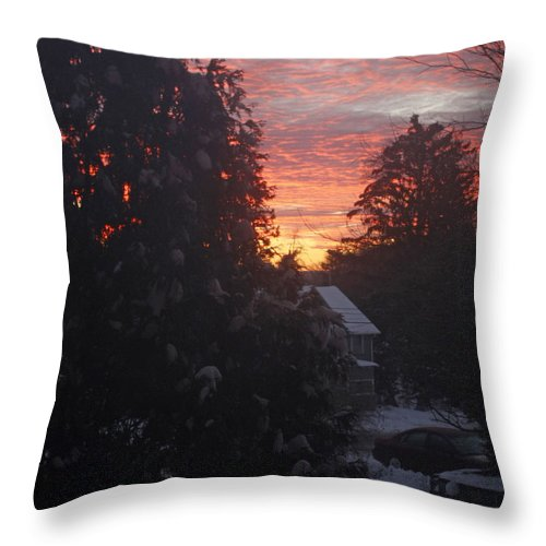 Throw Pillow featuring the photograph January Sunrise From Civill Avenue by James Connor