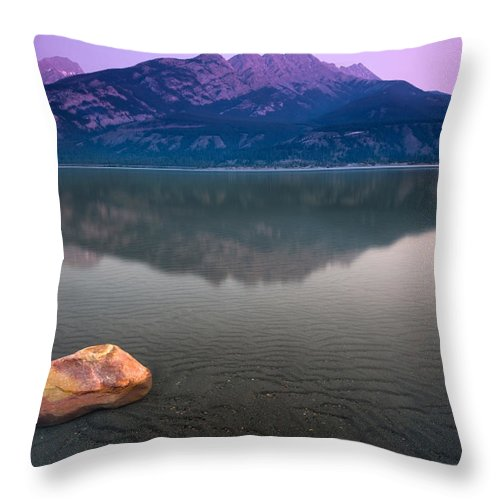 Landscape Throw Pillow featuring the photograph Jasper Lake Sunrise by Cale Best