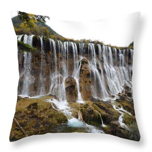 Jiuzhai Vally National Park Throw Pillow featuring the photograph Jiu Zhai Valley by Yue Wang