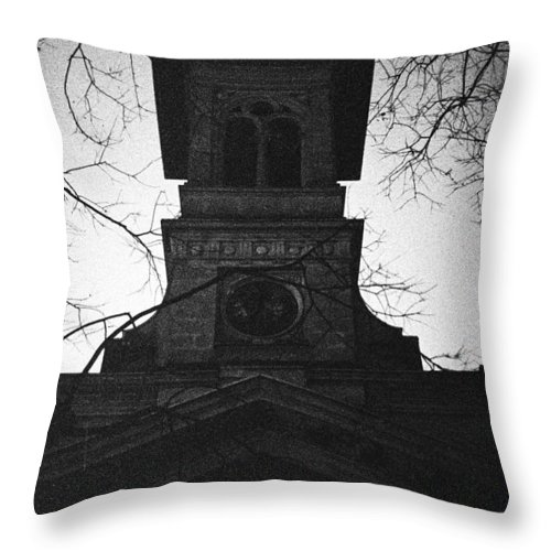 Film Throw Pillow featuring the photograph Lausanne Noir by Alyaksandr Stzhalkouski
