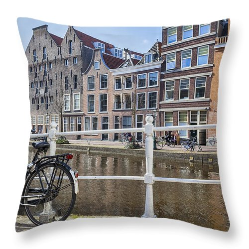 Leiden Throw Pillow featuring the photograph Leiden by Joana Kruse