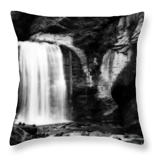 Looking Glass Falls Throw Pillow featuring the photograph Looking Glass Falls by Steven Richardson