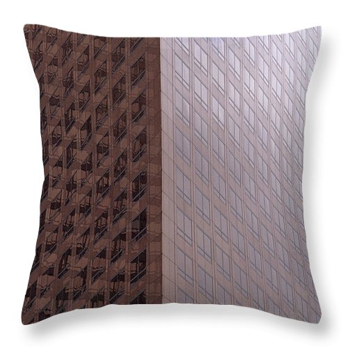 Travel Throw Pillow featuring the photograph Los Angeles Buildings by Jim Corwin