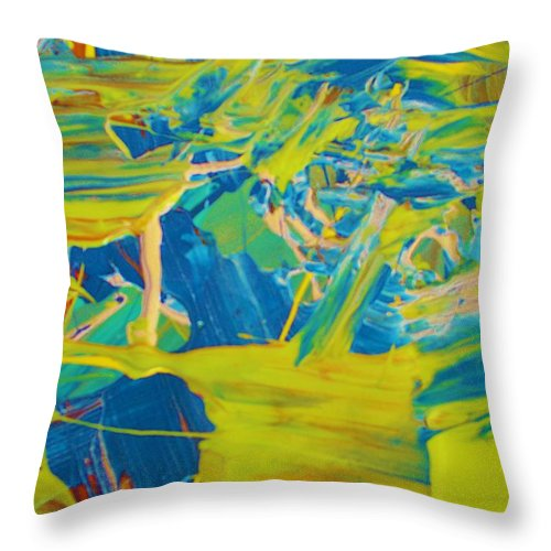 Original Throw Pillow featuring the painting Lost by Artist Ai