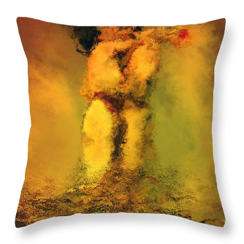 Nudes Throw Pillow featuring the photograph Lovers by Kurt Van Wagner