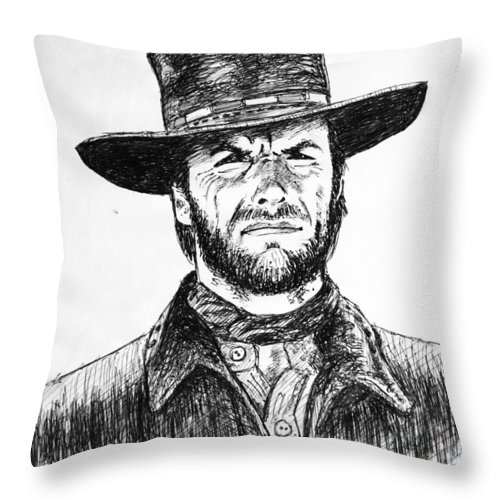 Clint Eastwood Throw Pillow For Sale By Salman Ravish