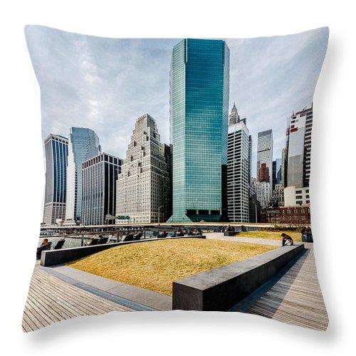 Manhattan Throw Pillow featuring the photograph Manhattan by Alyaksandr Stzhalkouski