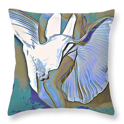 Fli Throw Pillow featuring the painting Marilyn Monroe by Fli Art