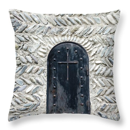 Arch Throw Pillow featuring the photograph Medieval Door by ????? ???????