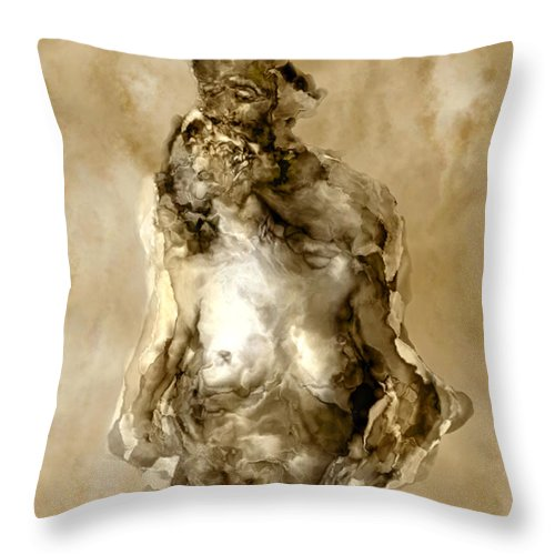 Nude Throw Pillow featuring the photograph Melt by Kurt Van Wagner