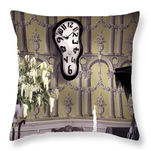 Surreal Throw Pillow featuring the photograph Meltdown by Mike McGlothlen