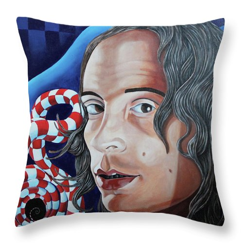 Mike Martinelli Throw Pillow featuring the painting Michael by Don Martinelli