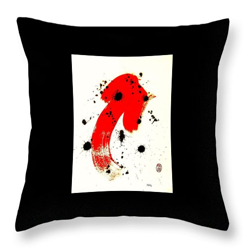 Original Throw Pillow featuring the painting Mikado Rising by Roberto Prusso