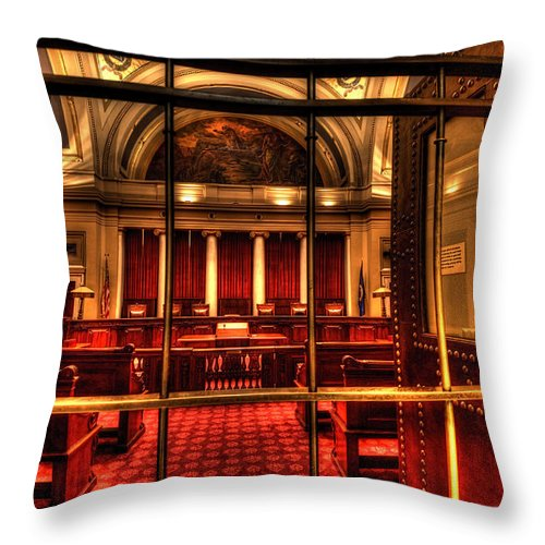 Minnesota State Capitol Throw Pillow featuring the photograph Minnesota Supreme Court by Amanda Stadther