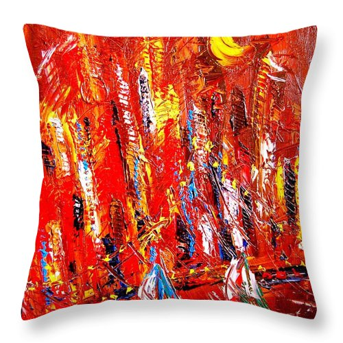 Throw Pillow featuring the painting Moscow by Mark Kazav