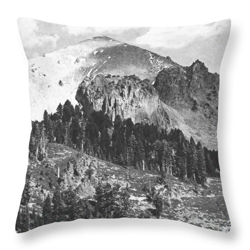 Pencil Throw Pillow featuring the photograph Mount Lassen Volcano by Frank Wilson