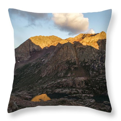 Eolus Throw Pillow featuring the photograph Mt. Eolus by Aaron Spong
