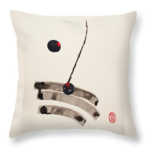 Original Throw Pillow featuring the painting Muga No Genri by Roberto Prusso