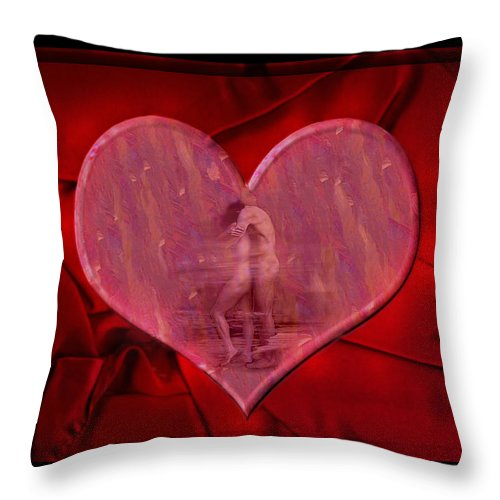 Nude Throw Pillow featuring the photograph My Hearts Desire by Kurt Van Wagner