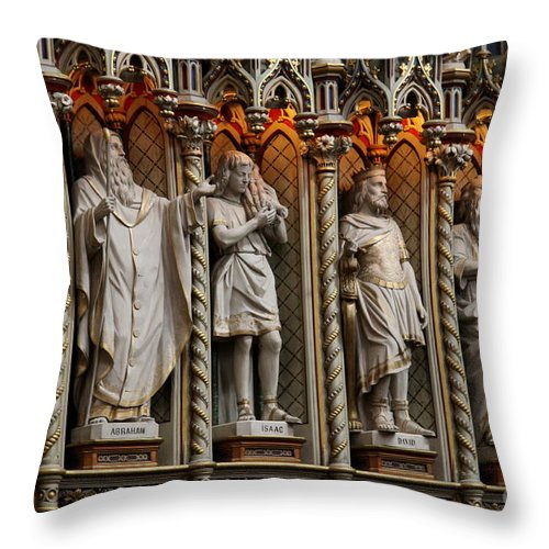 Notre Dame Cathedral Basilica Throw Pillow featuring the photograph Notre Dame Cathedral Basilica - Ottawa by Christiane Schulze Art And Photography